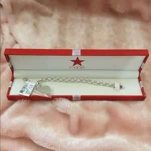 Charm Bracelet (Engravable Heart)